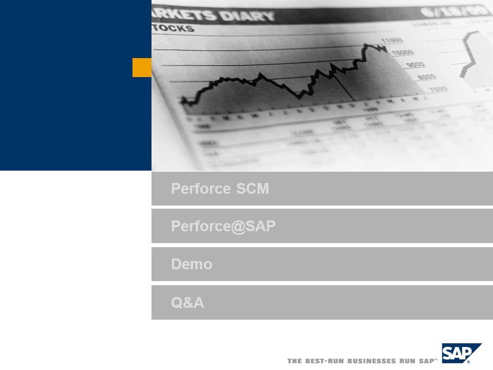 Demo Q&A Perforce@SAP Perforce SCM