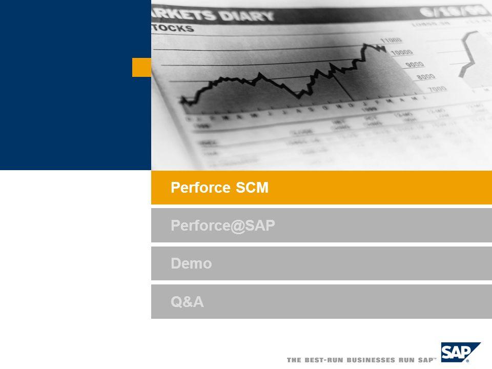 Demo Q&A Perforce SCM Perforce@SAP