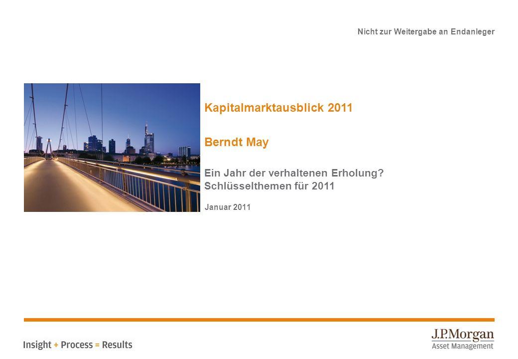 Nicht zur Weitergabe an Endanleger Kapitalmarktausblick 2011 Berndt May Ein Jahr der verhaltenen Erholung.