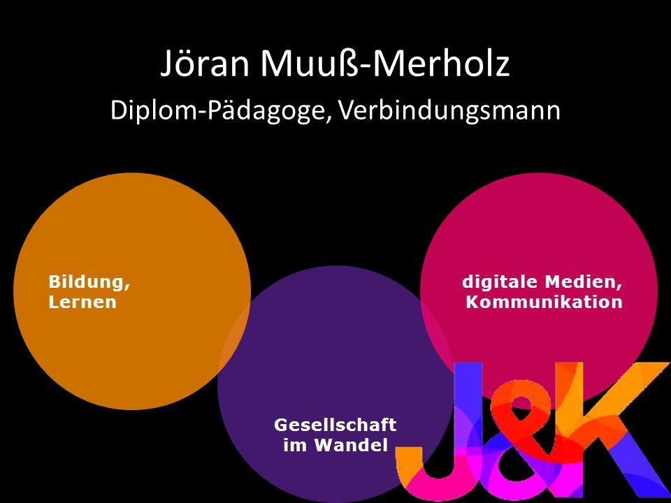 Gesellschaft im Wandel Jöran Muuß-Merholz Diplom-Pädagoge, Verbindungsmann Bildung, Lernen digitale Medien, Kommunikation