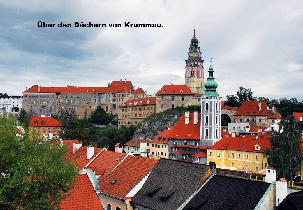 Über den Dächern von Krummau.