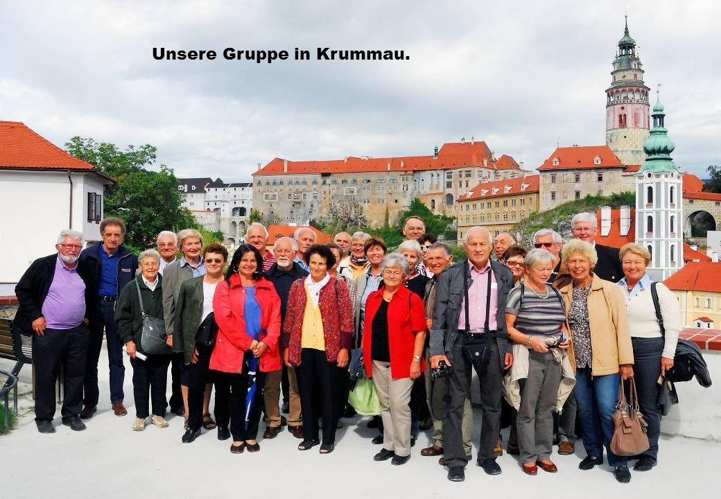 Unsere Gruppe in Krummau.