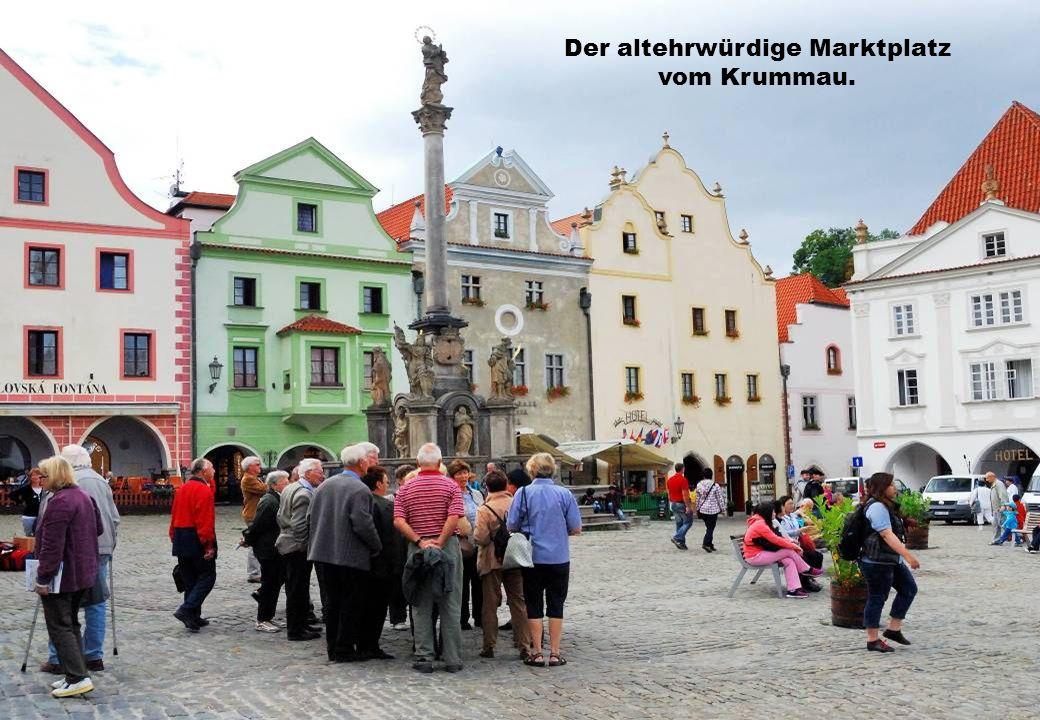 Der altehrwürdige Marktplatz vom Krummau.