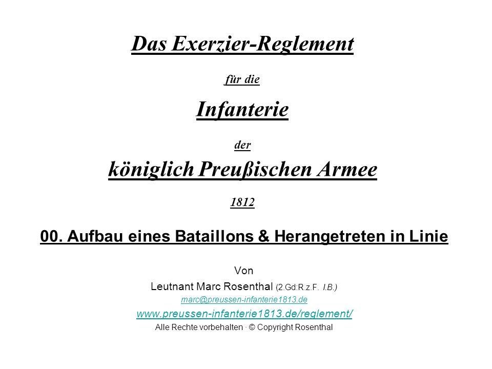 Das Exerzier-Reglement für die Infanterie der königlich Preußischen Armee 1812 00.