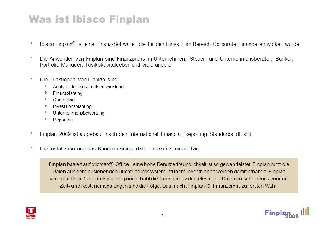 1 Finplan 2009 Was ist Ibisco Finplan Ibisco Finplan ® ist eine Finanz-Software, die für den Einsatz im Bereich Corporate Finance entwickelt wurde Die