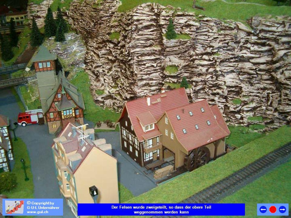 © Copyright by G-U-L Unternährer www.gul.ch Finden sie die Trennstelle (Schnittstelle) im Felsmassiv ?