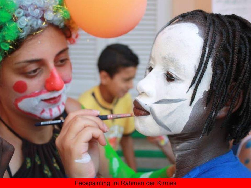 Facepainting im Rahmen der Kirmes