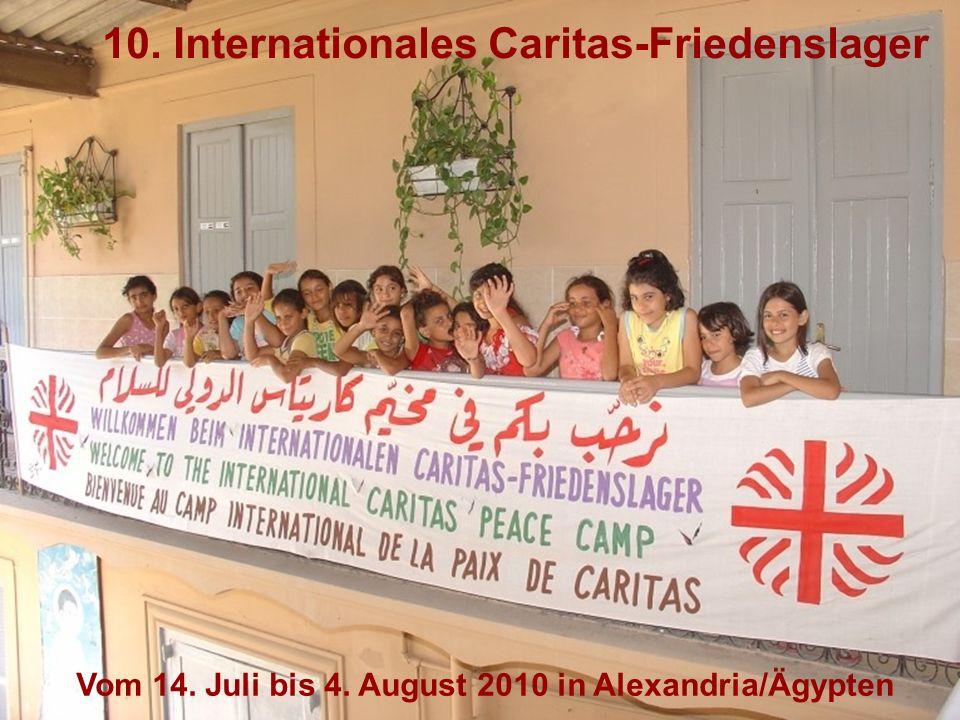 Seit 1999 organisiert die Caritas Salzburg in enger Zusammen- arbeit mit lokalen Partnerorganisationen aus dem Nahen Osten (fast) jedes Jahr ein internationales Friedenslager für bedürftige Kinder aus verschiedenen Ländern der Region, das jedes Jahr in einem anderen Land stattfindet.
