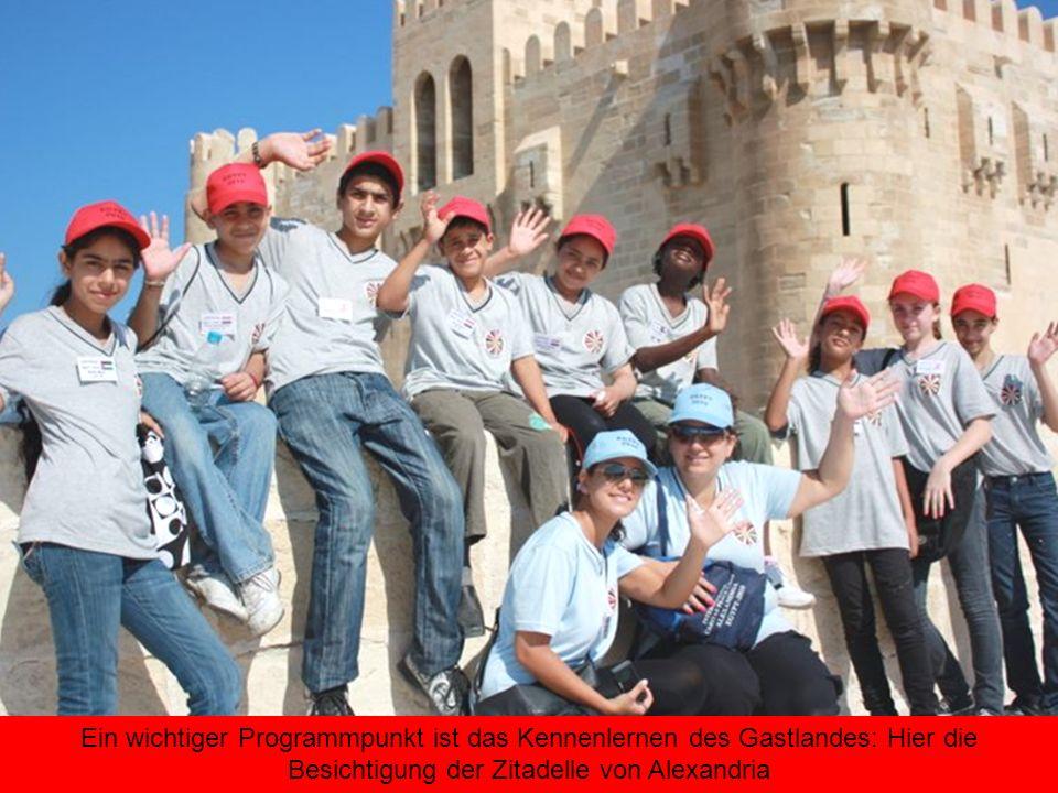 Ein wichtiger Programmpunkt ist das Kennenlernen des Gastlandes: Hier die Besichtigung der Zitadelle von Alexandria