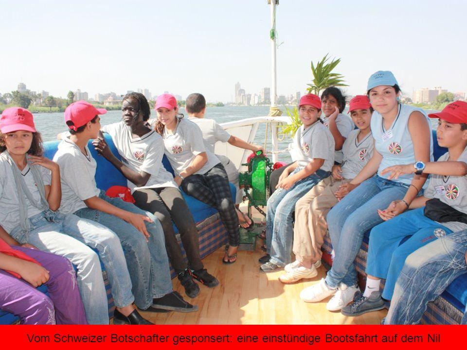 Vom Schweizer Botschafter gesponsert: eine einstündige Bootsfahrt auf dem Nil