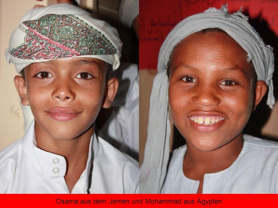 Osama aus dem Jemen und Mohammad aus Ägypten