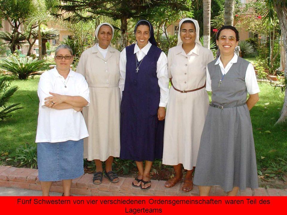 Fünf Schwestern von vier verschiedenen Ordensgemeinschaften waren Teil des Lagerteams