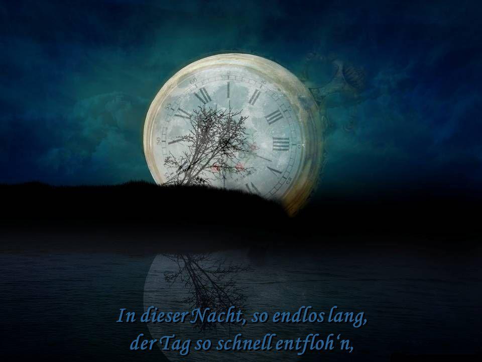 In dieser Nacht, so endlos lang, der Tag so schnell entflohn, In dieser Nacht, so endlos lang, der Tag so schnell entflohn,