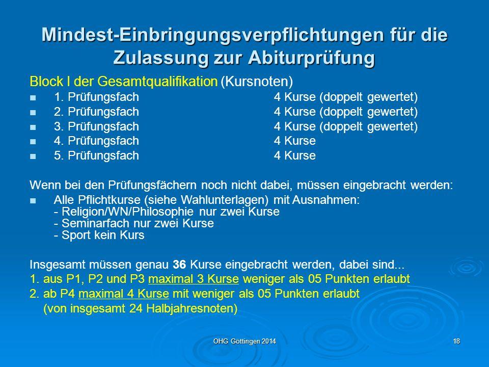 OHG Göttingen 201417 Gut zu wissen Nr.2 Ausnahme Tutorenwahl: Ausnahme Tutorenwahl: Der Erlass fordert eine direkte Wahl des Tutors.
