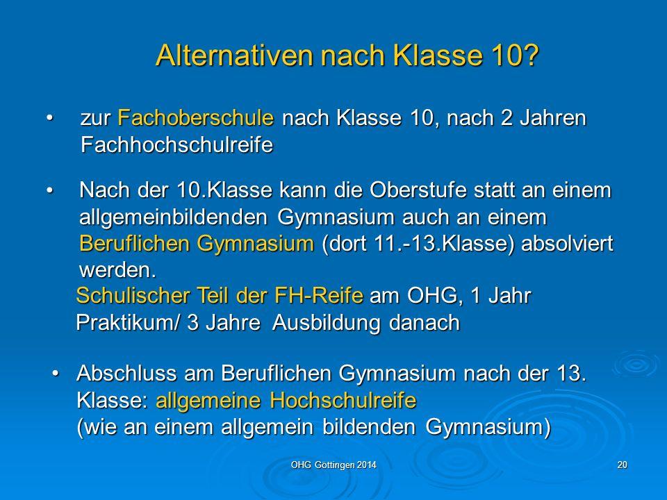 OHG Göttingen 201419 Die Abiturprüfung Die schriftlichen Prüfungen in P1- P3 dauern 300 Minuten.