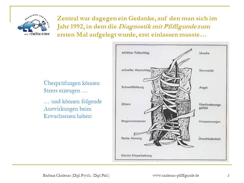 Barbara Cárdenas (Dipl.Psych./Dipl.Päd.) www.cardenas-pfiffigunde.de 3 Überprüfungen können Stress erzeugen … … und können folgende Auswirkungen beim