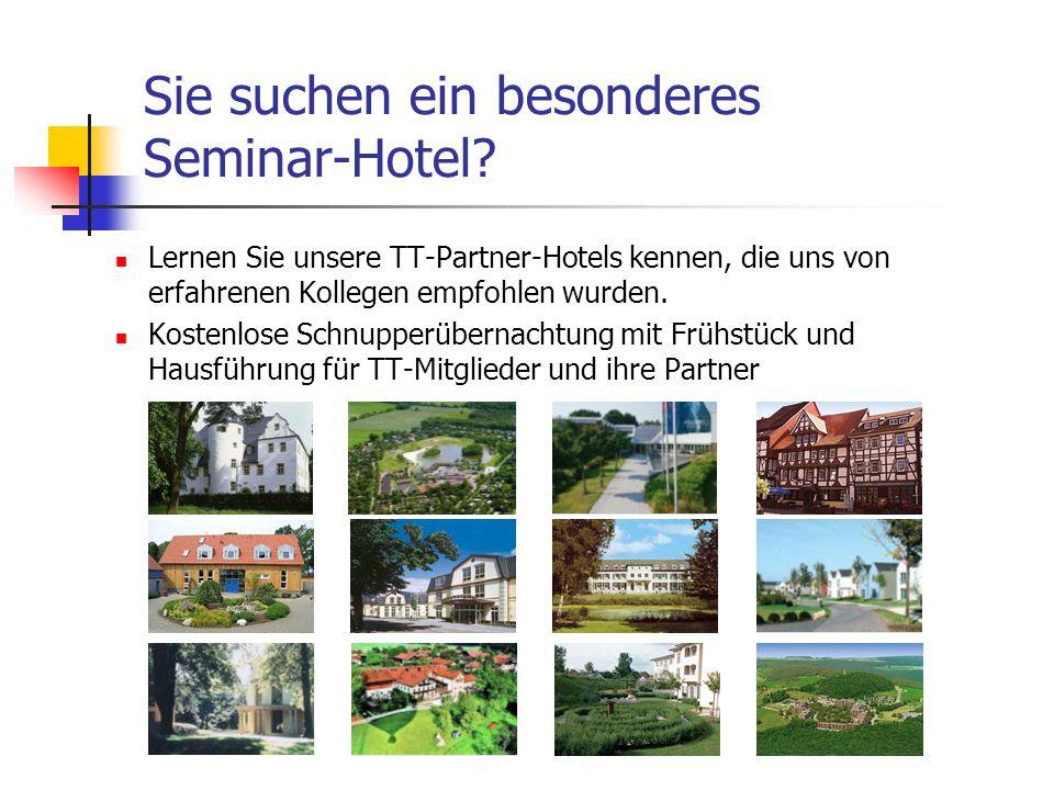 Sie suchen ein besonderes Seminar-Hotel.