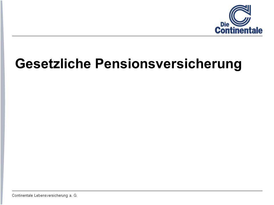 Continentale Lebensversicherung a. G. Gesetzliche Pensionsversicherung