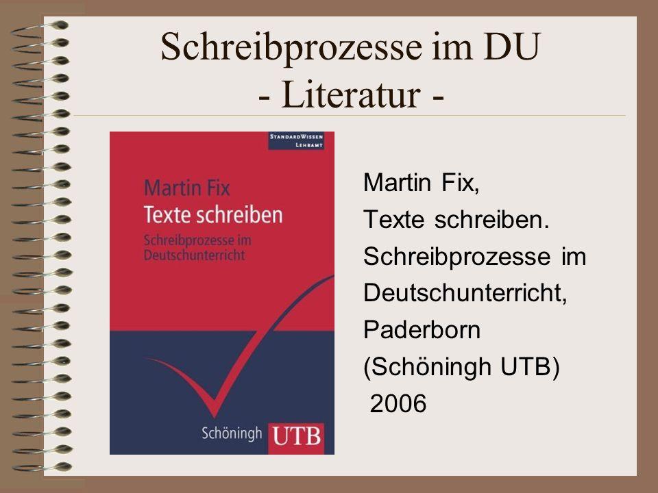 Ziel: Konzeptionelle Schriftlichkeit Der DU muss flexibel zwischen systematischer Betrachtung einzelner Bausteine und integrativer Anwendung in realen Schreibsituationen wechseln, also keine starre Stufenfolge verfolgen.
