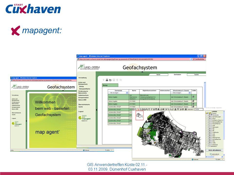 mapagent: GIS Anwendertreffen Küste 02.11.- 03.11.2009, Dünenhof Cuxhaven
