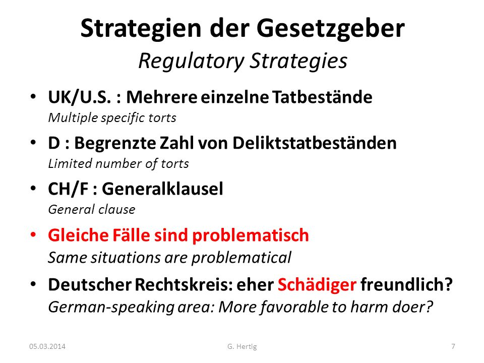 05.03.2014 Strategien der Gesetzgeber Regulatory Strategies UK/U.S.