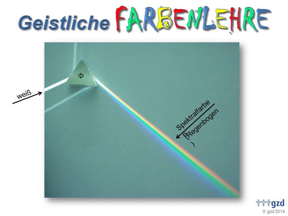 gzd 2014 weiß Spektralfarbe n (Regenbogen )