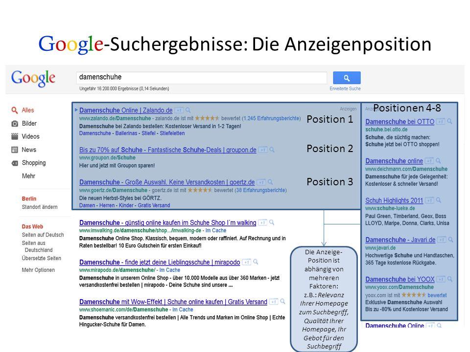 Google -Suchbegriffe damenschuhe Suchbegriff Für dieses Keyword bieten Sie, damit Ihre Anzeige erscheint, sobald eine Suchanfrage gestellt wird