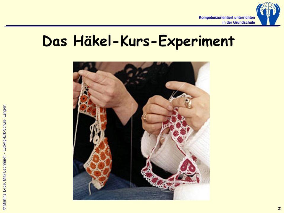 © Martina Loos, Max Leonhardt - Ludwig-Erk-Schule Langen Das Häkel-Kurs-Experiment 2
