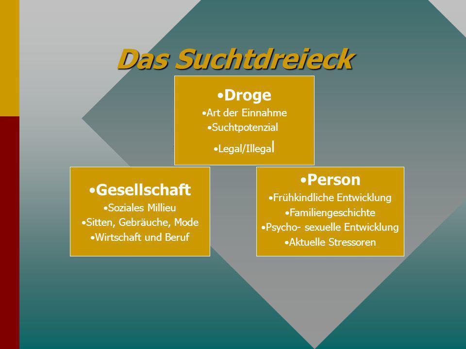 Theorien der Suchtentstehung Andreas Knoll Bochum, im Dez. 2012 1. Gesellschaft1. Gesellschaft 2. Person2. Person 3. Droge3. Droge