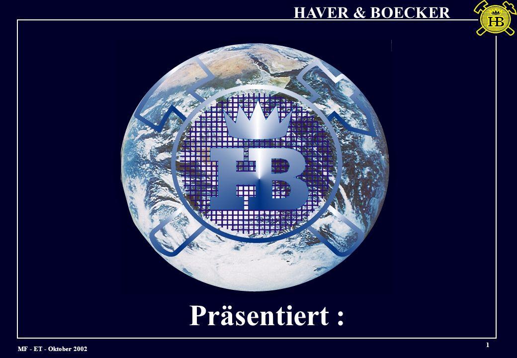 MF - ET - Oktober 2002 HAVER & BOECKER 1 Präsentiert :