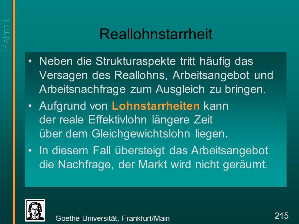 Goethe-Universität, Frankfurt/Main 226 Höhere Löhne...