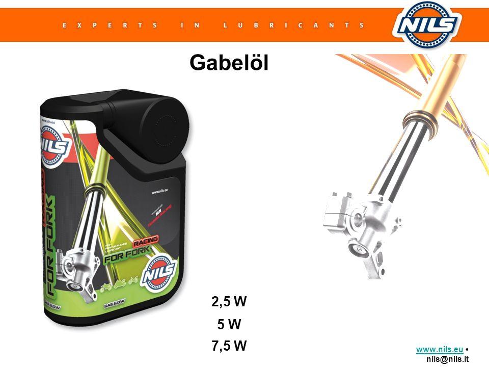 www.nils.euwww.nils.eu nils@nils.it Gabelöl 2,5 W 5 W 7,5 W