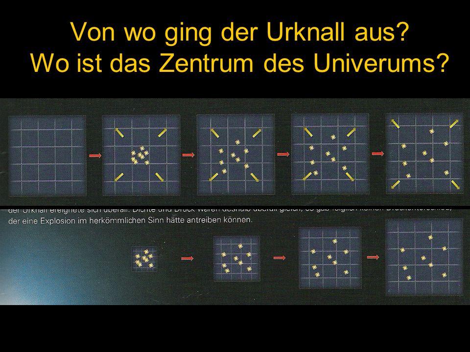 Von wo ging der Urknall aus? Wo ist das Zentrum des Univerums?