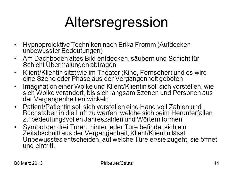 B8 März 2013Piribauer/Strutz44 Altersregression Hypnoprojektive Techniken nach Erika Fromm (Aufdecken unbewusster Bedeutungen) Am Dachboden altes Bild