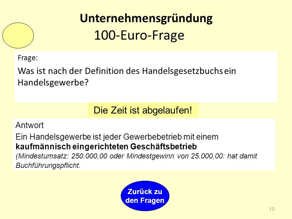 Kosten-/Krisenmanagment 9 400-Euro-Frage Frage: In der Abbildung sind vier Lücken 1. bis 4. Welche Begriffe müssen hier richtig eingesetzt werden? Die