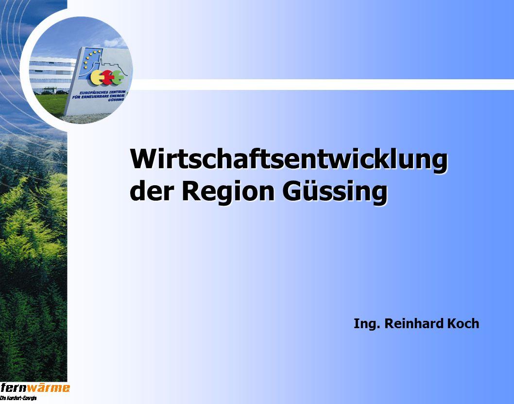 Wirtschaftsentwicklung der Region Güssing Ing. Reinhard Koch