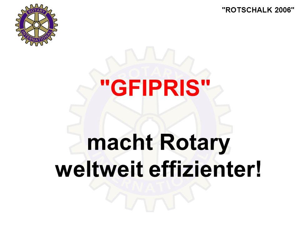 ROTSCHALK 2006 GFIPRIS macht Rotary weltweit effizienter!