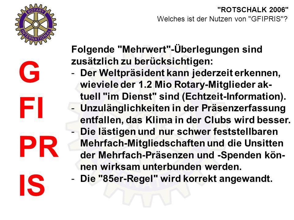ROTSCHALK 2006 G FI PR IS Welches ist der Nutzen von GFIPRIS .