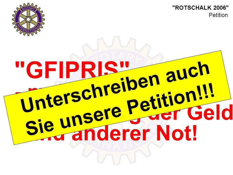 ROTSCHALK 2006 GFIPRIS - mehr als eine Idee. - die Lösung der Geld- und anderer Not.