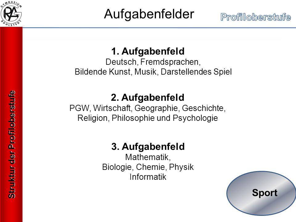 Sport 1.Aufgabenfeld Deutsch, Fremdsprachen, Bildende Kunst, Musik, Darstellendes Spiel 2.