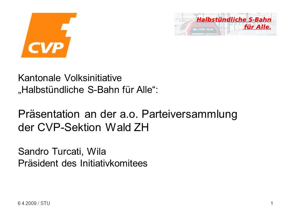 6.4.2009 / STU1 Kantonale Volksinitiative Halbstündliche S-Bahn für Alle: Präsentation an der a.o.