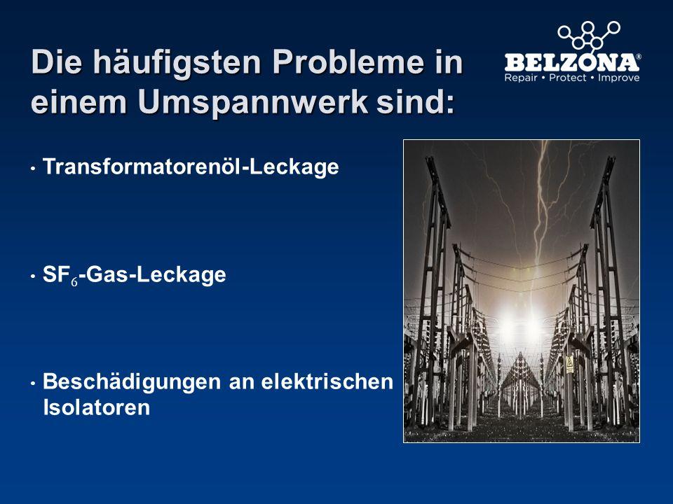 Die häufigsten Probleme in einem Umspannwerk sind: Transformatorenöl-Leckage SF 6 -Gas-Leckage Beschädigungen an elektrischen Isolatoren