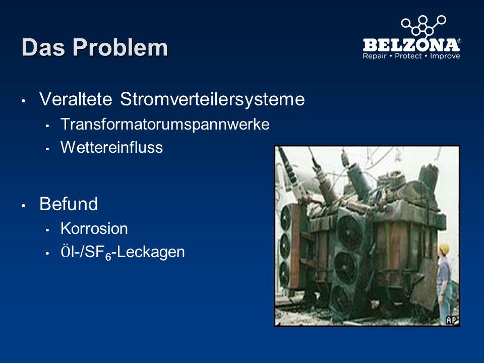 Das Problem Veraltete Stromverteilersysteme Transformatorumspannwerke Wettereinfluss Befund Korrosion Ӧ l-/SF 6 -Leckagen