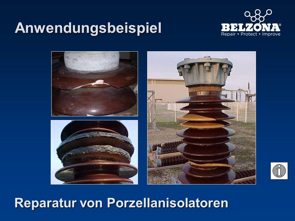 Reparatur von Porzellanisolatoren Anwendungsbeispiel