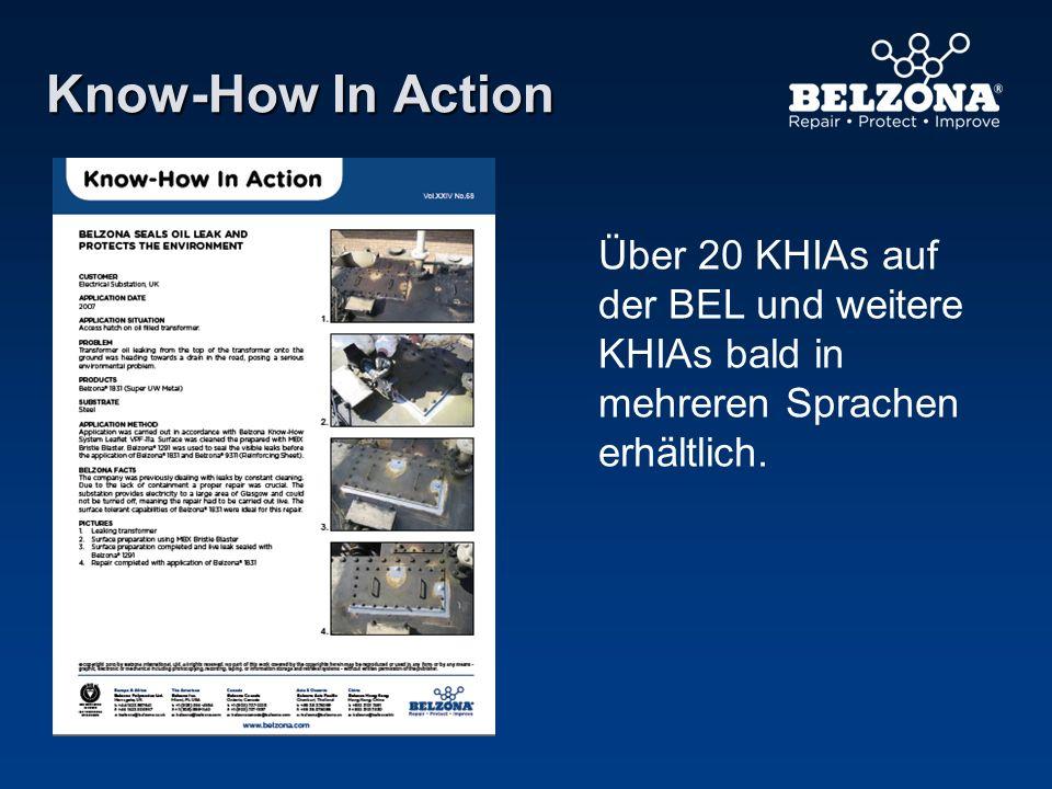 Know-How In Action Über 20 KHIAs auf der BEL und weitere KHIAs bald in mehreren Sprachen erhältlich.