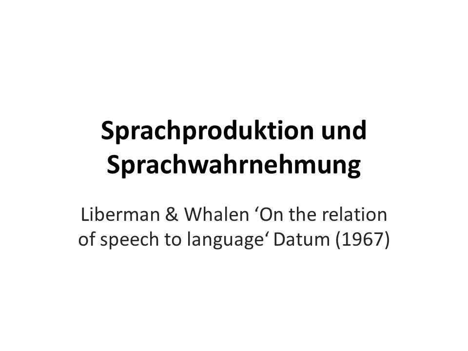 Phonetische Strukturen Identifizieren: sprachrelevante Laute /ba/ v.