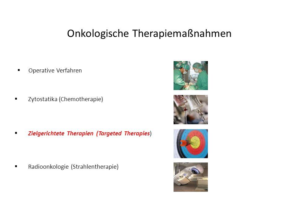 Zielgerichtete Therapie (Targeted Therapy) … Targeted Therapies führen zu einer zielgerichteten Beeinflussung von Signalwegen in einer Tumorzelle, mit dem Ziel, das Tumorwachstum zu verhindern und den Tumor zu verkleinern.