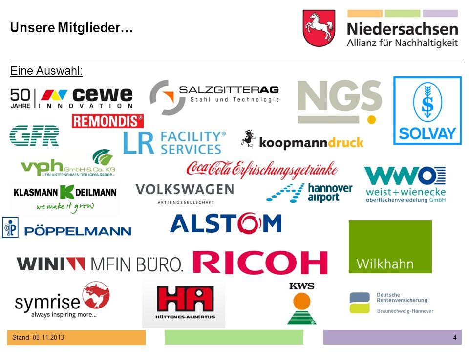 Stand: 08.11.2013 5 A Alstom Transport Deutschland GmbH, Salzgitter Armstrong DLW GmbH, Werk Delmenhorst Assmann Büromöbel GmbH & Co.