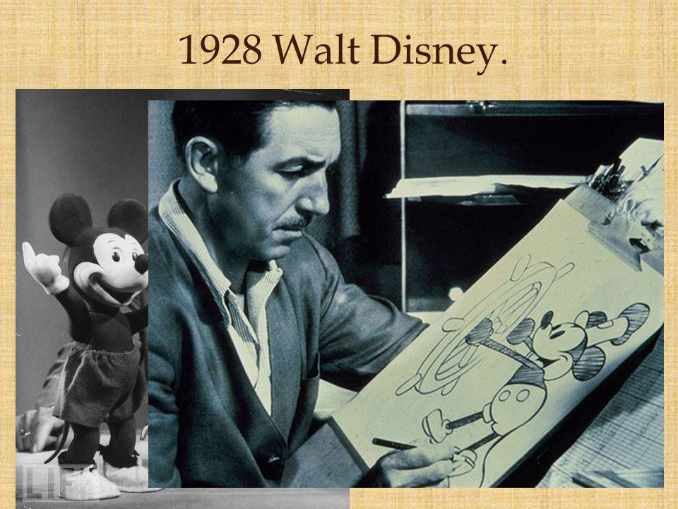 1928 Walt Disney.