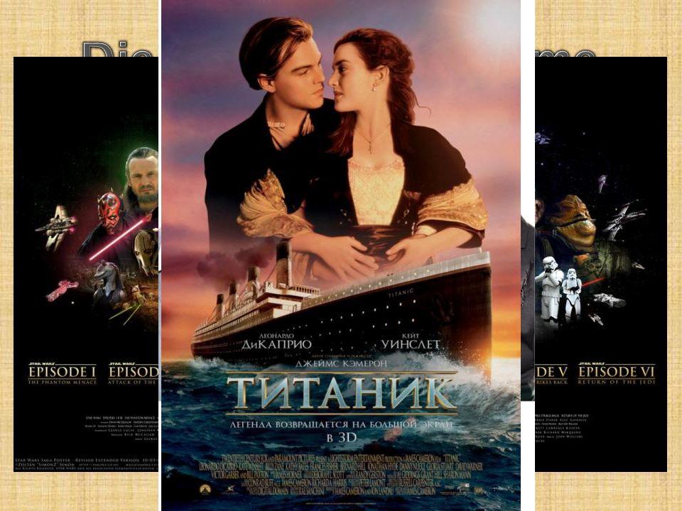 Klasse 4.: « Звёздные войны » « Гарри Поттер » « Дом страхов » Klasse 5.: « Выкрутасы » « Хатико » « Титаник »